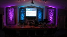 Landscape fabric and aluminum screening for removable panels in a multi-use chapel