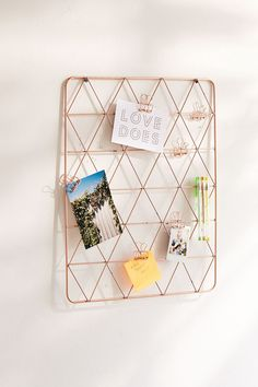 Shop Geo Wire Wall Grid at Urban Outfitters today. We carry all the latest styles, colors and brands for you to choose from right here. Rose Gold Room Decor, Rose Gold Rooms, Gold Bedroom Decor, Room Ideas Bedroom, Bedroom Wall, Bed Room, Study Room Decor, Cute Room Decor, Grade Para Fotos