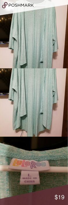 Lula Roe  Jacket Seafoam or mint green speckled ribbed Lularoe jacket.  This is a large but fits up to much bigger.  NWOT. LuLaRoe Jackets & Coats