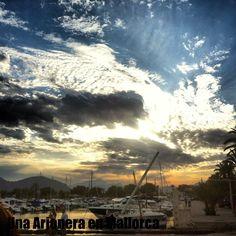 Port de Alcudia al atardecer #sunsetmallorca #excursión #barco