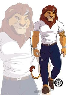 An Artist Drew Humanlike Versions Of Mufasa, Scar, And Simba.And Suddenly I'm A Furry, Y'all Lion King Fan Art, Lion King Movie, Disney Lion King, Art Roi Lion, Simba Et Nala, Scar And Mufasa, Images Roi Lion, Lion King Animals, Wild Animals