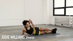 Jodie Williams: Side Plank Reach Through.  You can also do this with a weight.