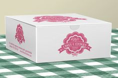 Cake Box for Bakery Pastries by JoZOO on Creative Market