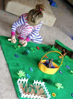 Easter Bunny No-Sew Felt Playmat