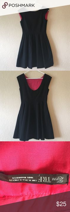 Zara TRF Little Black Dress, Pink Lining Size M. Perfect LBD. Beautiful pink lining and low back. So gorgeous, but no longer fits (thank you, kids!). Only worn once for a date night. Zara Dresses Mini