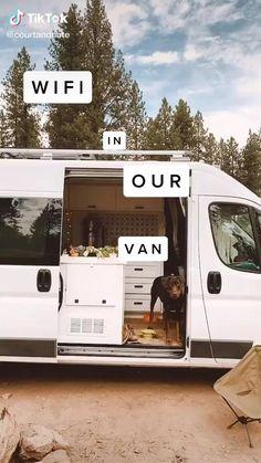 Build A Camper Van, Bus Camper, Camper Life, Airstream Campers, Mini Camper, Truck Camping, Van Camping, Camping Hacks, Auto Gif