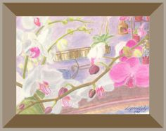 Great orchid pastel scenery. #art #pastel #scenery #orchid