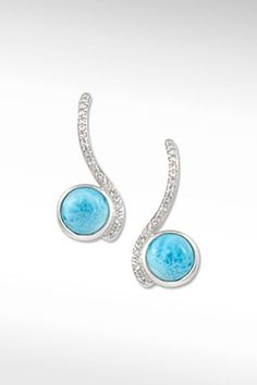 Larimarket - MarahLago Adella Collection Larimar Earrings with White Sapphires, $288.00 (http://www.larimarket.com/marahlago-adella-collection-larimar-earrings-with-white-sapphires/)