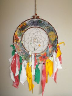 Unique, crafty dream catcher. $250.00, via Etsy.