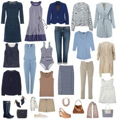 This week the Style Club Magazine for June has been published and in it I have created 4 holiday capsule wardrobes. I though I would share one of them with you here (if you want to see the other 3 …