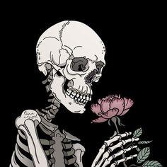 None of these images are mine =) Art And Illustration, Cute Wallpapers, Wallpaper Backgrounds, Skeleton Art, Skeleton Makeup, Skull Makeup, Arte Obscura, Skull Art, Aesthetic Art