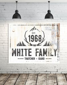 Last Name Signs, Family Name Signs, Cabin Signs, Porch Signs, White Wall Art, Large Wall Art, Modern Farmhouse Decor, Farmhouse Signs, Farmhouse Style