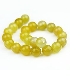 18mm Yellow Agate Beads