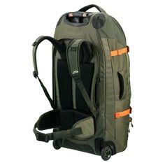 Hybrid 70L Backpack Harness Wheeled Luggage Trolley v3 - Conifer/Orange