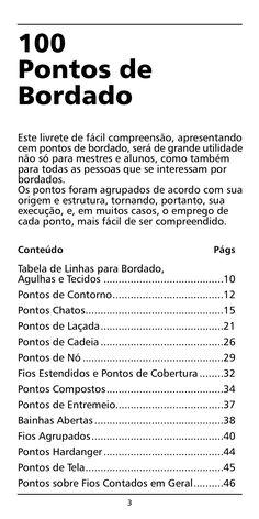 Manual bordado - 100 Pontos de Bordado by Solange Souza via slideshare