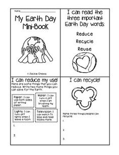 Free for a limited time! This is an interactive mini book with eight pages focusing on the three important Earth Day words: reuse, recycle, and reduce. Simply copy and go. There is no teacher prep. Students can cut the eight pages and staple them. It's done in black and white mainly so kids can color and write.