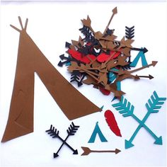 Arrow & Teepee Confetti by PartyGypsy on Etsy, $3.50