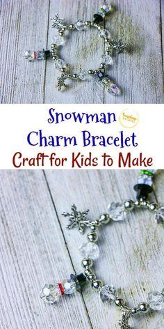 This Snowman Charm Bracelet Craft is the perfect holiday activity for kids. Make this fun craft during a holiday party or as a way to celebrate the upcoming Winter Solstice!