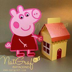 Casa caja de Peppa Pig tarjeta y estalla por NatGrafDesigns en Etsy