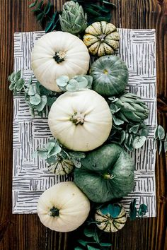 Sage and White Autumn Tablescape   In Honor Of Design