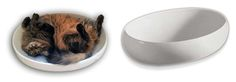 Cats who love to sleep in sinks - Cats Contour Ceramic Cat Bed from Little Cat Designs