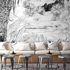 633764ce1dec84  oasis  illustration  sketch  papierpeint  original  wallpaper  decor   livingroom