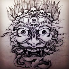 Mahakala, done by Iker Basauri TattooStage.com - Ratings and reviews for tattoo artists and studios. #tattoo #tattoos #ink