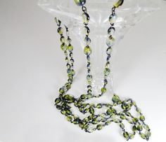 Olivine Round Smooth Druk Czech Beads - No Clasp Necklace