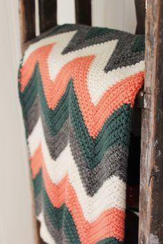 Sikksakk vognteppe (free pattern) #Prydelig