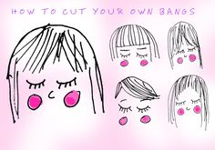Hair stylists from top salons give detailed descriptions for how to cut your own bangs, according to the style of fringe you have. Hairstyles With Bangs, Diy Hairstyles, Hot Haircuts, Curly Hair Styles, Natural Hair Styles, Diy Haircut, How To Cut Bangs, Hair Today, Cut And Color