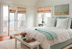 Slaapkamer Wit Blauw Landelijk
