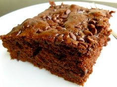 Skinny Chocolate Chip Snack Cake with just 4 Weight Watchers Points Plus. Easy and Delicious.