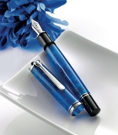 Pelikan M805 Vibrant Blue special edition for 2016, coming soon. Available via special order at Goulet Pens!