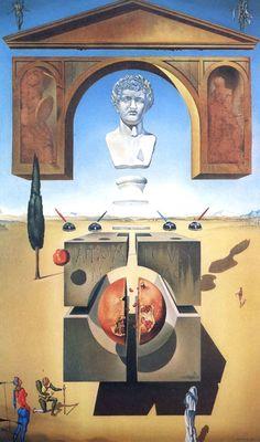 "pixography: ""Salvador Dali ~ ""The splitting of the Atom (La separation de l'atome) or Dematerialization near the Nose of Nero"", 1947 """