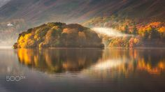 Mist drifts across Derwentwater in fall (England) by Verity Milligan on 500px