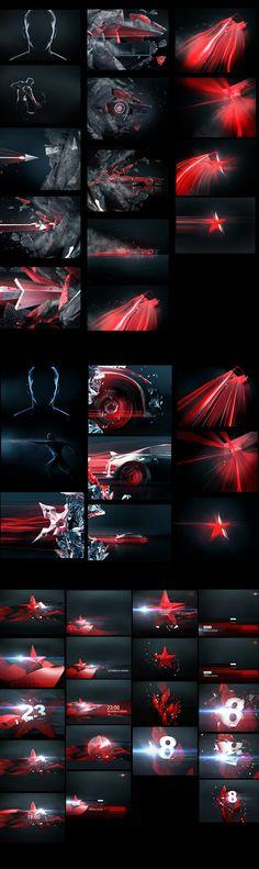 For Russian channel STAR / promo/ ID by egor antonov, via Behance
