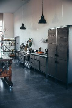 Our Food Stories' Berlin Studio With Frama Studio Kitchen Douglas Fir Cabinets, Photo Laura Muthesius
