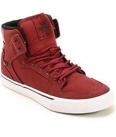 950d366a732c A great high top style with a burgundy canvas construction on a vulcanized  outsole for board