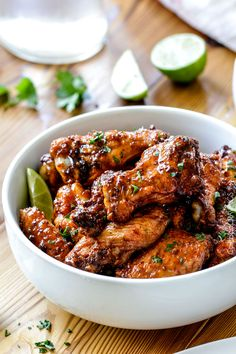 Baked Chipotle Honey Lime Hot Wings | http://www.carlsbadcravings.com/baked-chipotle-honey-lime-hot-wings-recipe/