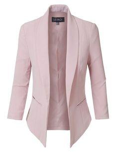 Fully Lined Sleeve Open Front Tuxedo Blazer Jacket with Pocket Womens Fully Lined Sleeve Open Front Tuxedo Blazer Jacket with Pocket - Woman Jackets and Blazers Look Blazer, Casual Blazer, Blazer Outfits, Blazer Fashion, Blazer Dress, Blazer Jacket, Casual Outfits, Fashion Outfits, Dress Outfits