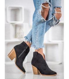 Semišové kovbojky na stĺpci Booty, Ankle, Shoes, Fashion, Swag, Zapatos, Moda, Shoes Outlet, La Mode