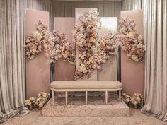 Wedding Backdrop Design, Wedding Hall Decorations, Wedding Reception Backdrop, Engagement Decorations, Wedding Reception Design, Backdrop Decorations, Backdrops, Background Decoration, Indoor Wedding