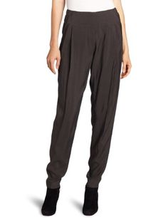 Halston Heritage Women's Pleat Front Trouser With Wide Waist Band, Asphalt, 6 | Traveling Of Life