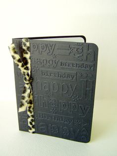 handmade birthday card black birthday card by JDooreCreations, $3.00