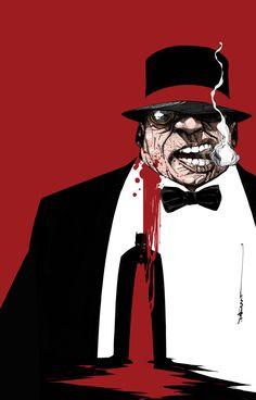 Batman Eternal #13 Textless cover. Penguin!