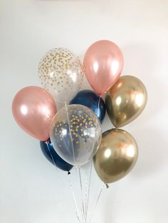 Pin Decor - Just another WordPress site Glitter Balloons, Gold Confetti Balloons, Latex Balloons, Confetti Gender Reveal, Baby Gender Reveal Party, Rose Gold Chrome, Shower Rose, Gender Reveal Party Decorations, Gold Bridal Showers
