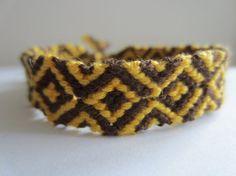 Golden Brown Braided Friendship Bracelet