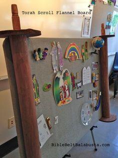 Torah Scroll flannel board