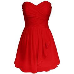 Dresstells Sweetheart Homecoming Dress with Pleats Short Bridesmaid... ($80) ❤ liked on Polyvore featuring dresses, vestidos, short red dress, red pleated dress, homecoming dresses, bridesmaid dresses and red cocktail dress