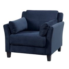 Lowest price online on all Furniture of America Trevon Tufted Accent Chair in Navy - IDF-6716NV-CH